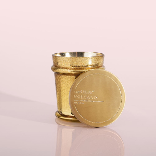 Gold Glittered 8 oz Volcano Candle