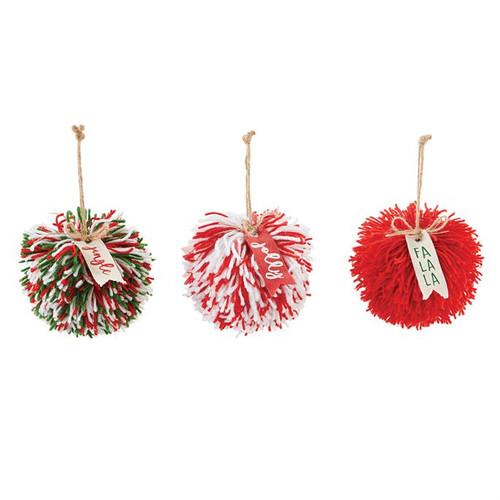 Pom Pom Ornament