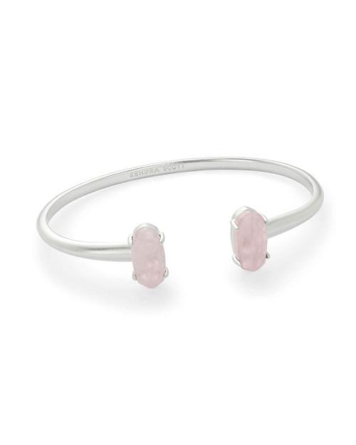 Edie Bracelet Silver Rose Quartz