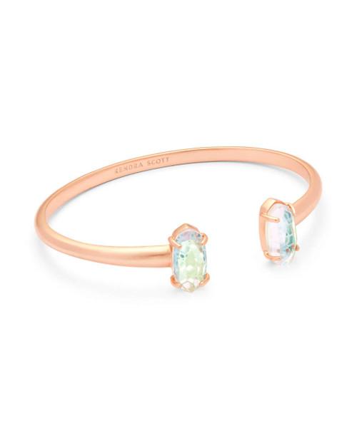 Edie Bracelet Rose Gold Dichroic Glass