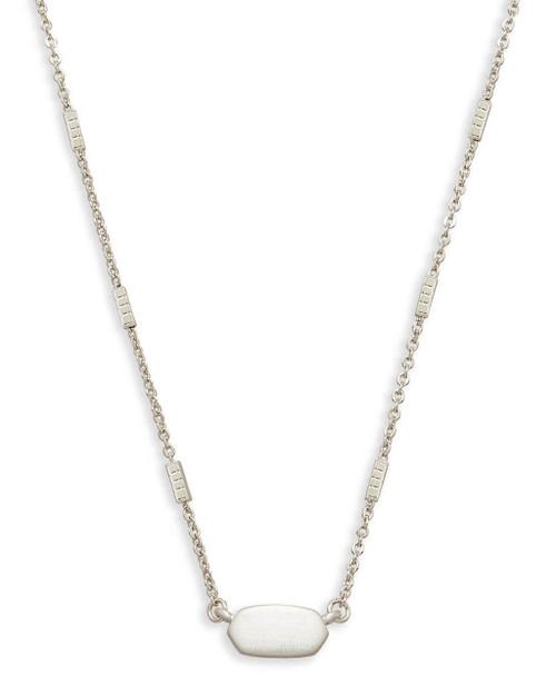 Fern Necklace Silver Metal