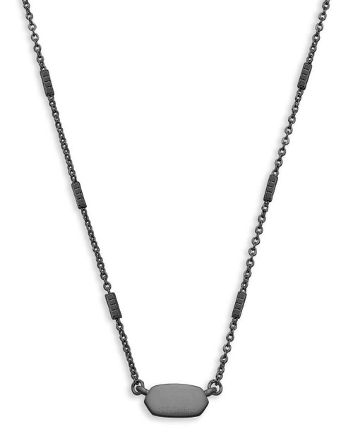 Fern Necklace Gunmetal