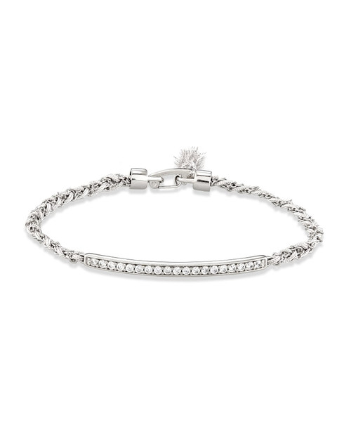 Addison Silver Friendship Bracelet
