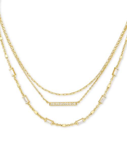 Addison Gold Multi Strand Necklace