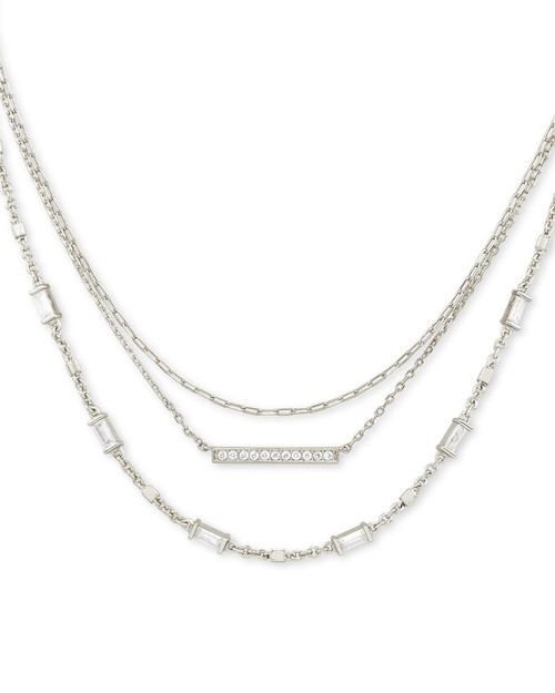 Addison Silver Multi Strand Necklace
