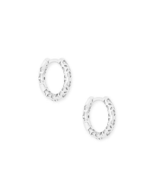 Maggie Huggie Earrings Silver