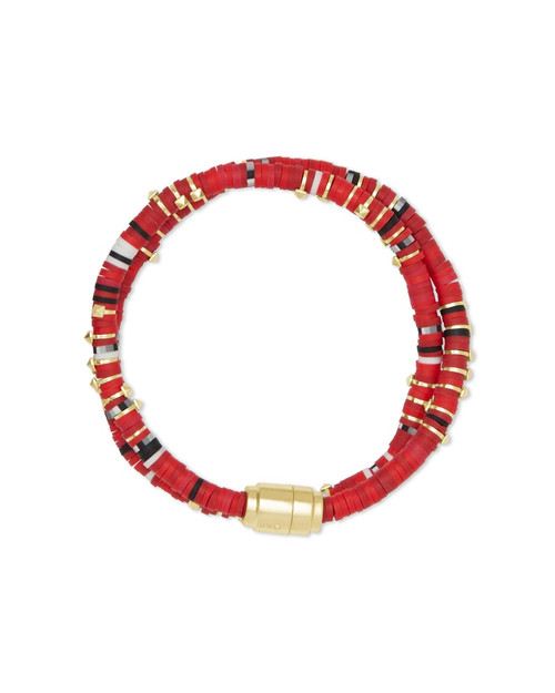 Reece Wrap Gold Red Bracelet