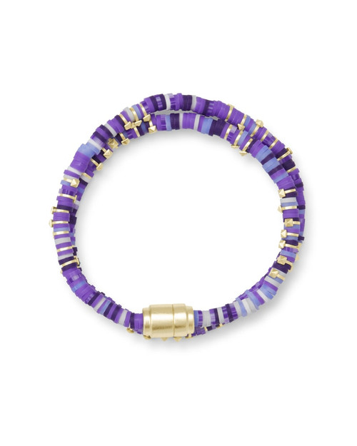 Reece Wrap Gold Purple Bracelet