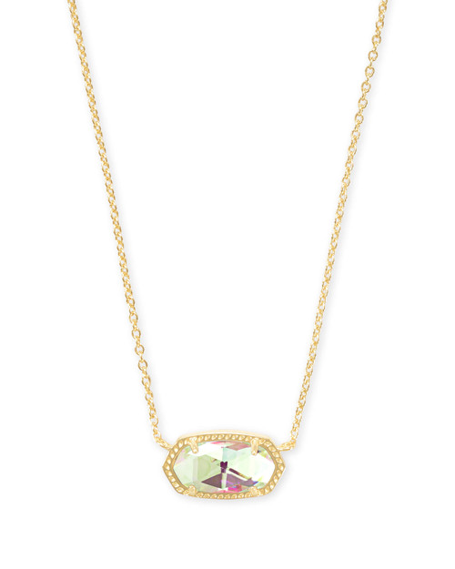 Elisa Necklace Gold Dichroic Glass