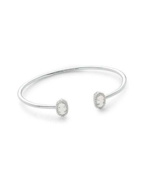 Calla Bracelet Silver Iridescent Drusy