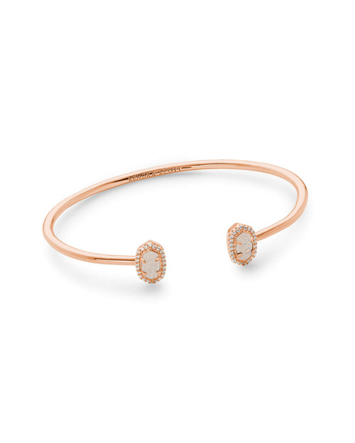 Calla Bracelet Rose Gold Iridescent Drusy