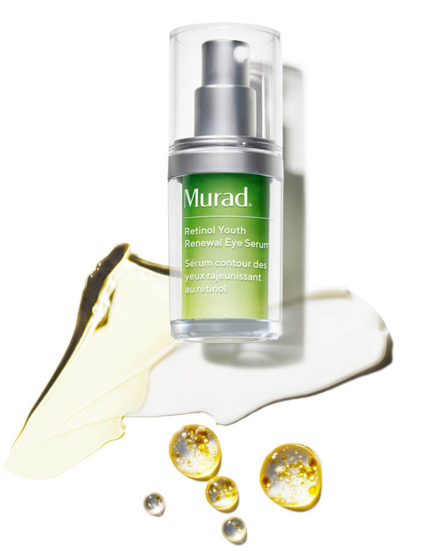 Retinol Youth Renewal Eye Serum bottle and texture