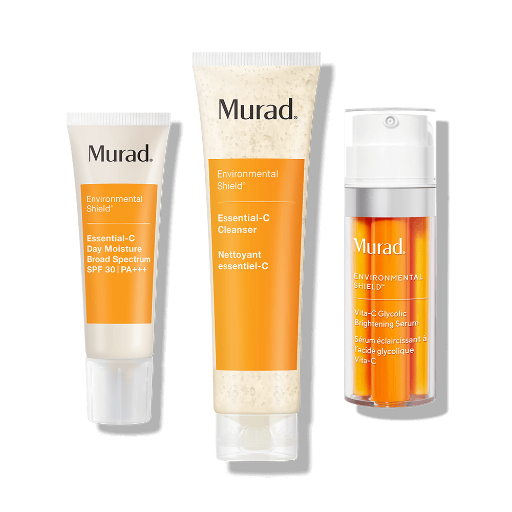 Murad 90 Day Rapid Brightening Kit - 5-Piece Set- Clean, exfoliate, target uneven tone, minimize the look of dark circles, and restore a healthy glow