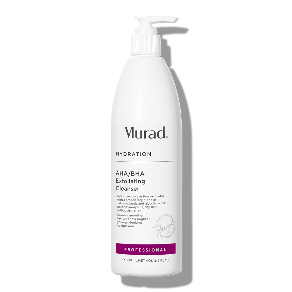 Murad AHA/BHA Exfoliating Cleanser Professional Size - 16.9 Fl. Oz. - Polishes Away Dullness & Impurities