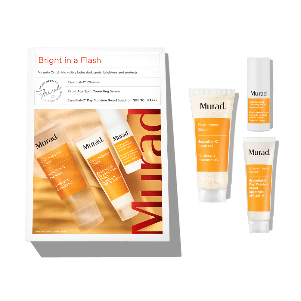 Murad Bright In A Flash Kit - 3-Piece Set - Visibly Fade Dark Spots While Protecting Skin