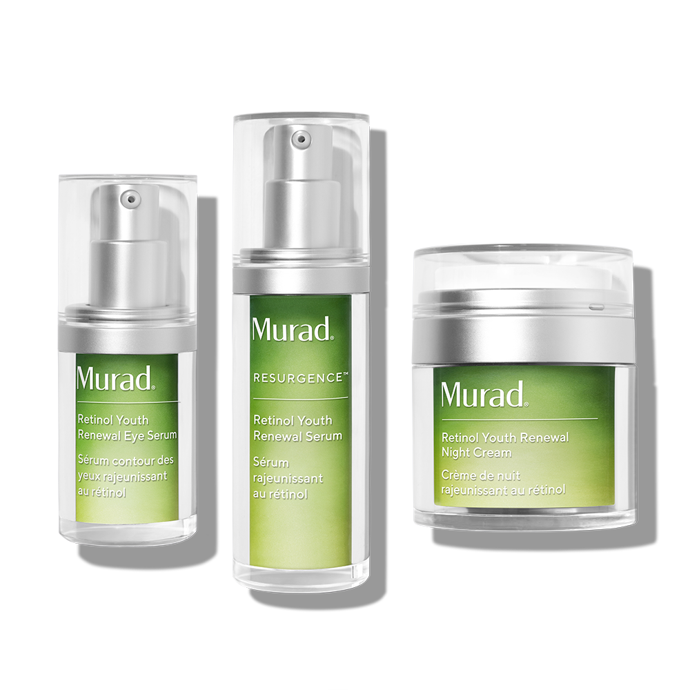 Murad Retinol Youth Renewal Regimen - 3 Piece Set - Potent Yet Gentle Retinol Rejuvenation