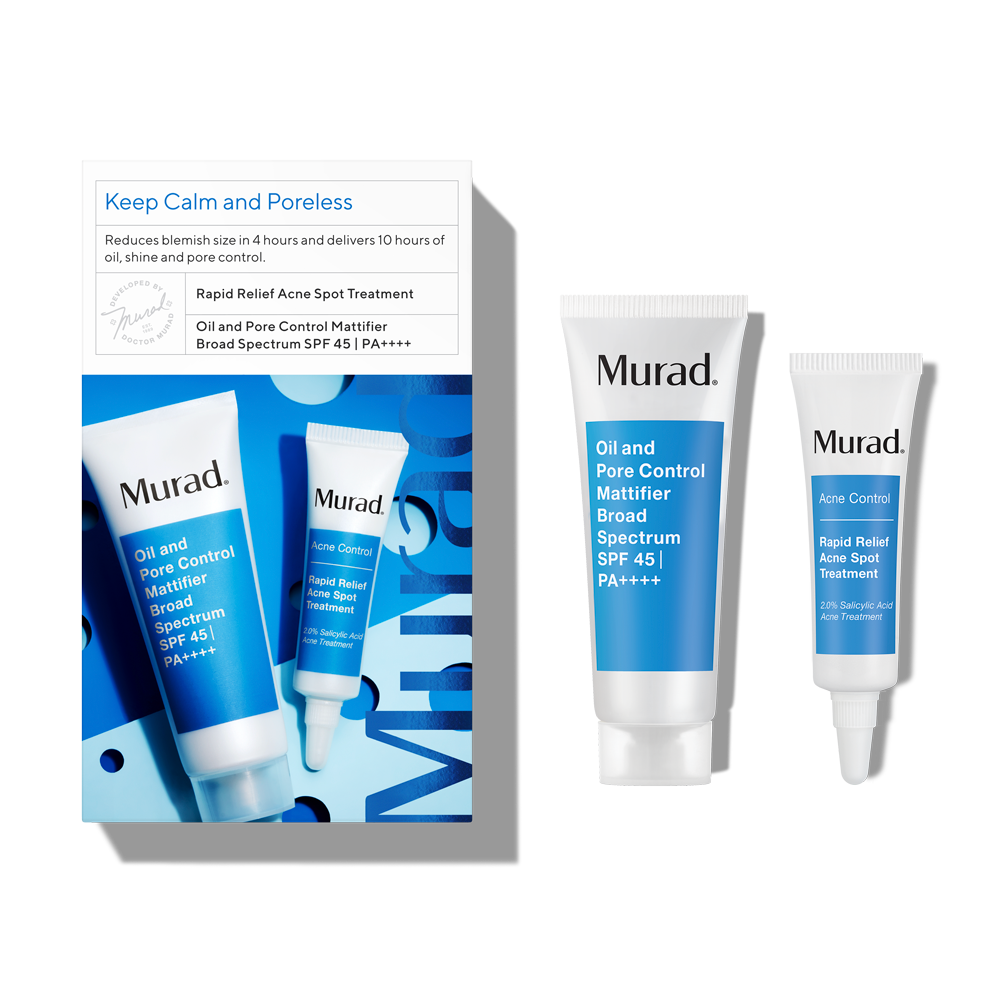 Murad Keep Calm and Poreless - 2 Piece Set - Treat & Prevent Breakouts While Hydrating Skin