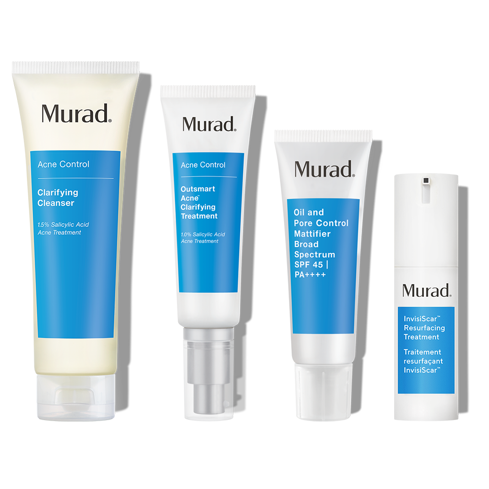 Murad 60-Day InvisiScar Kit - 4-Piece Gift - Acne Scar Treatment