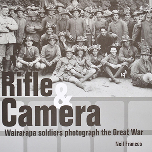 Wairarapa soldiers, like thousands of New Zealanders in the Great War, enthusiastically added newly-available small cameras to their personal kit. During their service at home and overseas, they took large numbers of photographs to record the years which, for many, would be the most dramatic and dangerous of their lives. A Rifle and a Camera shows, for the first time, 300 photographs from eight private collections held at Wairarapa Archive, giving a new perspective to a world war which shaped the 20th century.