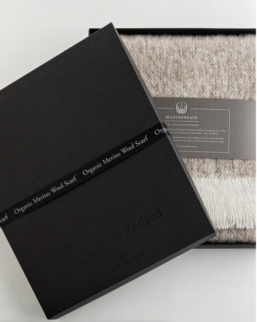 Only sourced from certified organic farms, this Merino wool is regarded as one of the finest and softest wools in the world. Merino wool is natural, renewable and biodegradable. Its delicate softness is wonderful in providing warmth, and style.  185cm x 20cm  Weight 0.45kg