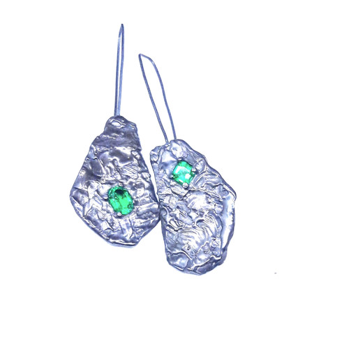 Bi Emerald Sterling Silver Earrings