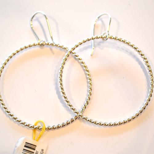 FKE - Twisted silver hoops