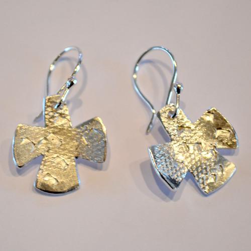Cast wax sterling silver earrings singles