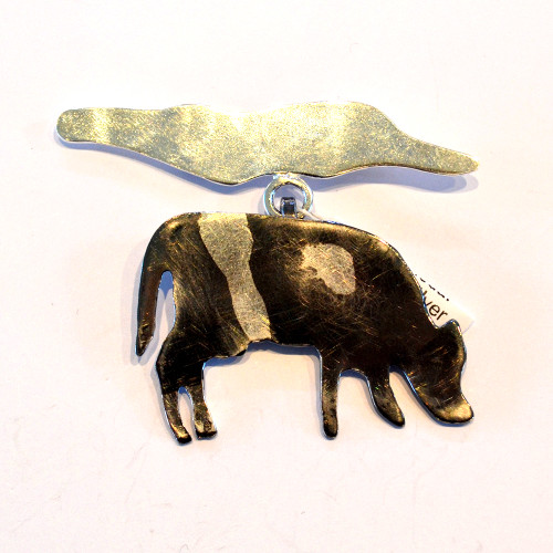 Cow medal Stirling silver