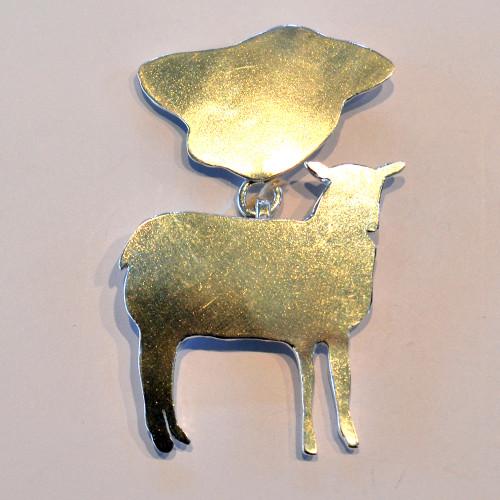 Sheep medal Stirling silver