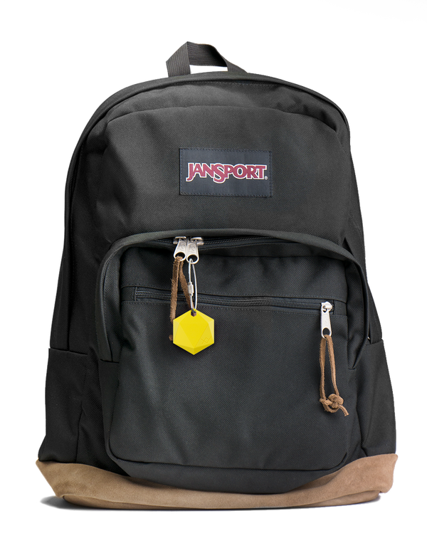 XY4+ can be easily attached to backpacks, purses, or other bags that are important to keep track of.