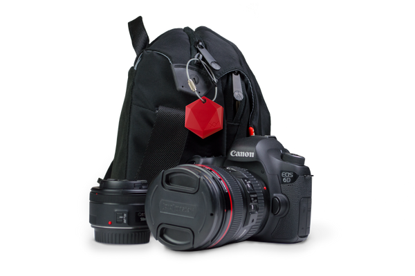XY4+ can help you keep track of all your important items that are often left behind.  Attach XY4+ to camera's, laptops, musical equipment, and more.