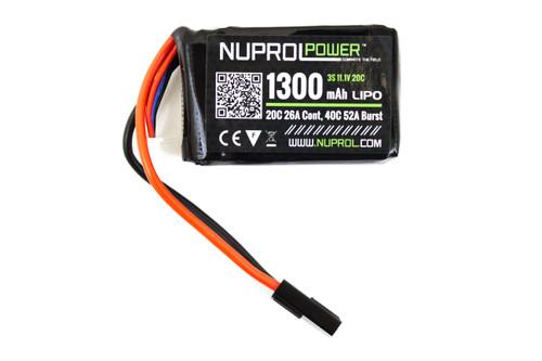 Nuprol  11.1v 1300mah 20c PEQ Lipo Battery