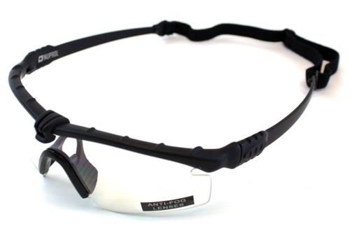 Nuprol Battle Pro Eye Protection Clear Lens/Black Frame