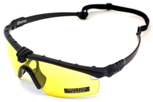 Nuprol Battle Pro Eye Protection Yellow Lens/Black Frame