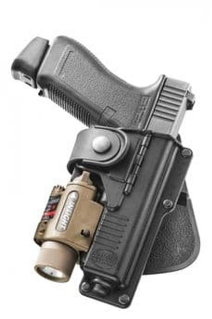 Fobus Glock 17 Light/Laser Bearing Holster RBT17