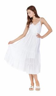 White Midi Sundress- White