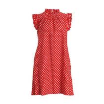 Shari Dress- Foulard Red