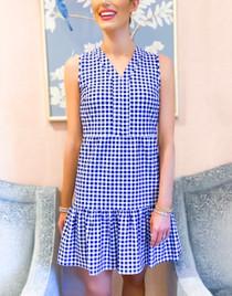 Annabelle Dress- Gingham Navy