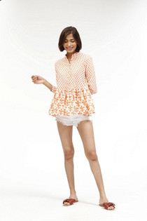 Chanderi Shirt- Coral Pomme