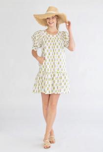 Anna Dress- Mini Hydrangea Grape