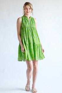 Ro Short Dress- Summer Rose Lime