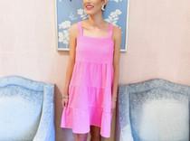 Chanel Multi Tier Mini Dress- Strawberry