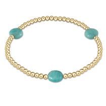 Admire Gold 3mm Bead Bracelet- Amazonite