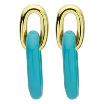 Small Shakedown Earrings- Resin Blue