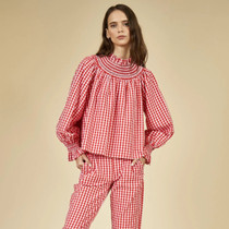 Hayes Blouse- Red Check