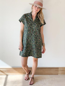 Nancy Dress- Olive Leopard