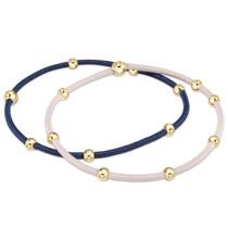 Essential Beaded Hair Tie Bracelet Set- Midnight