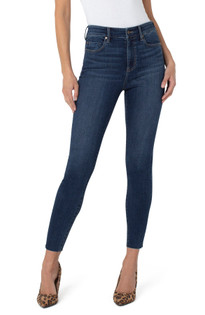 Abby Hi Rise Ankle Skinny Jean w/Cut Hem- Sinclair