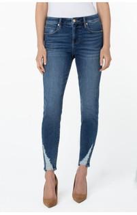 Abby Ankle Skinny Jean w/Shredded Hem- Perth