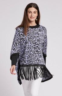 Fergie Poncho- Thistle Leopard